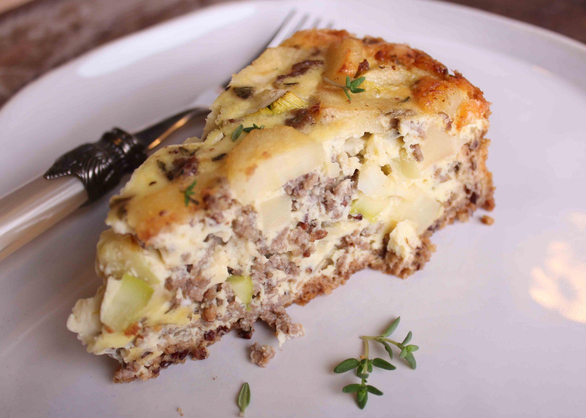 Pastinaken-Zucchini-Hackfleisch-Quiche