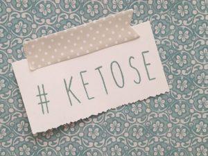 Ein Schild mit der Aufschrift Ketose