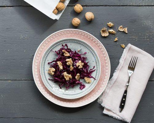 Rotkohlsalat mit Vanille Dressing