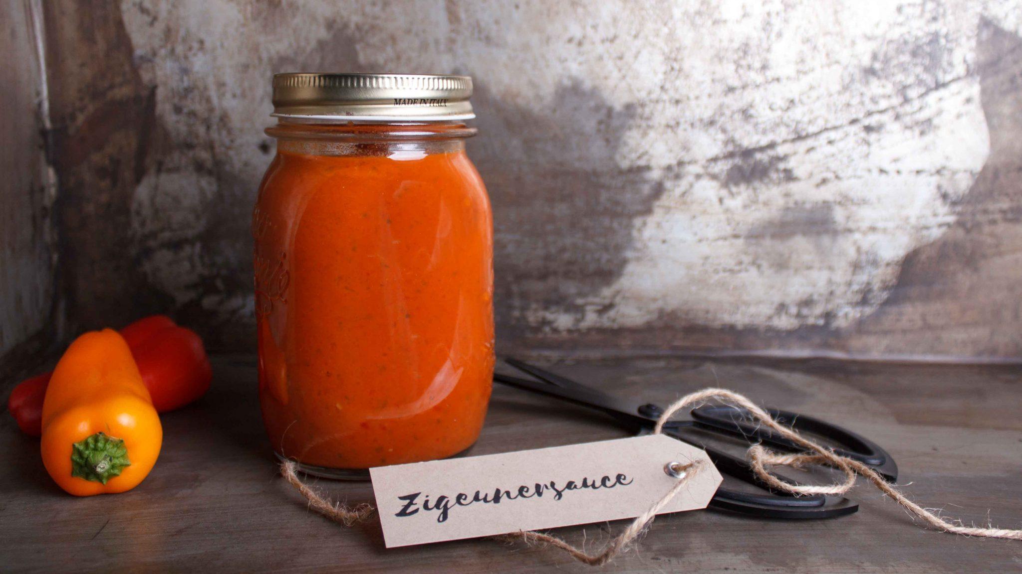 Hausgemachte Zigeunersauce ohne Zusatzstoffe, zuckerfrei