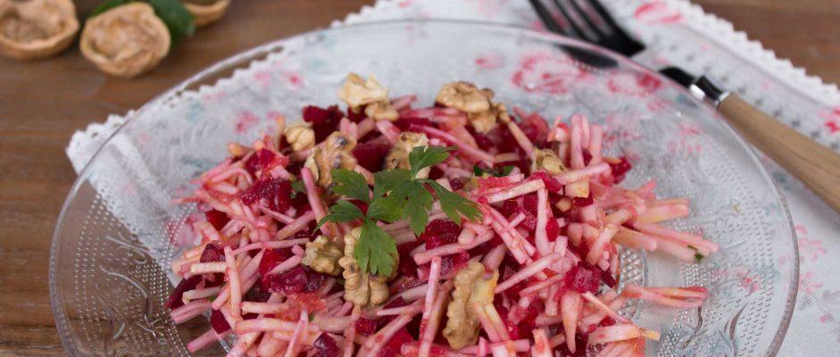 Winterhit: Sellerie-Rote-Bete Salat