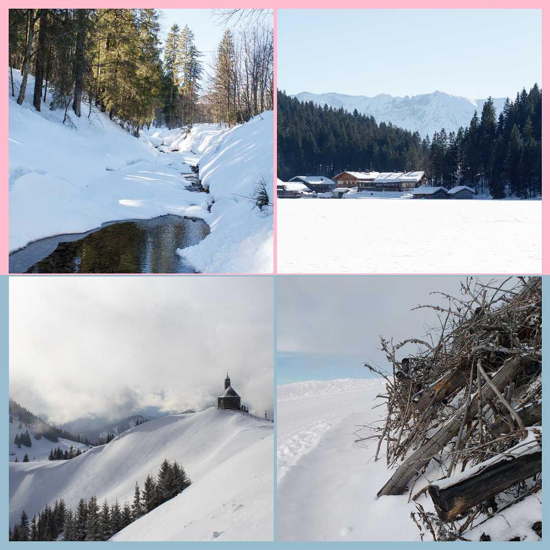 Impressionen einer Schneewanderung in Bayern