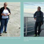 Anne Paschmann im Sommer 2013 mit massiven Symptomen Lipoedem vs. Sommer 2016, ohne Symptome
