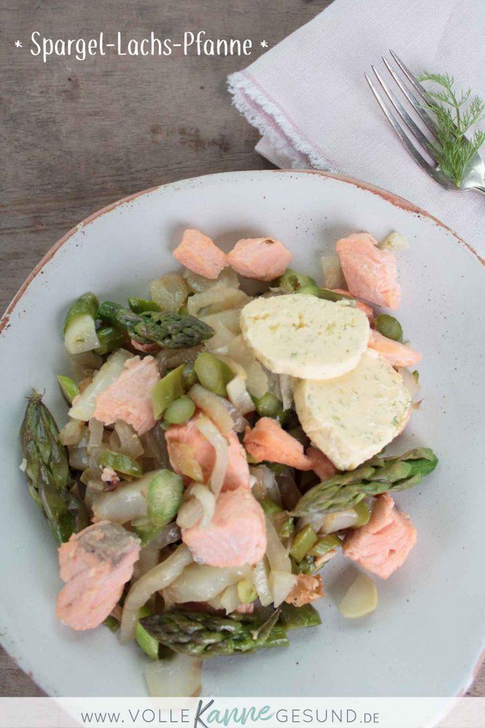 Spargel und Lachs mit Fenchel als Pfannengericht
